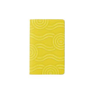Aboriginal art wattle pocket moleskine notebook