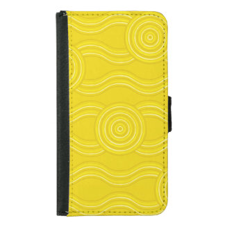 Aboriginal art wattle samsung galaxy s5 wallet case
