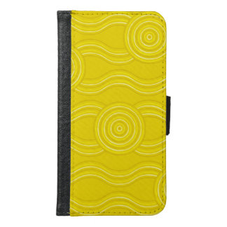 Aboriginal art wattle samsung galaxy s6 wallet case
