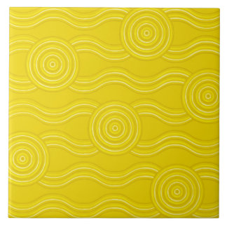 Aboriginal art wattle tile
