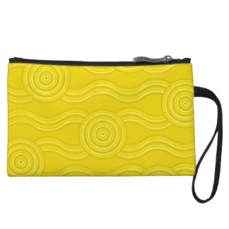 Aboriginal art wattle wristlet clutch