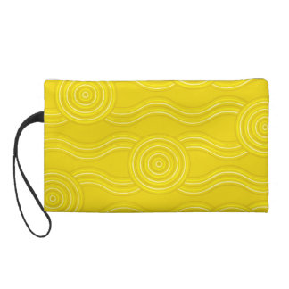 Aboriginal art wattle wristlet purses