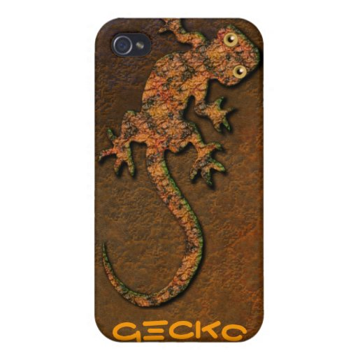 Aboriginal Australian Gecko iPod Touch Cases iPhone 4 Cover