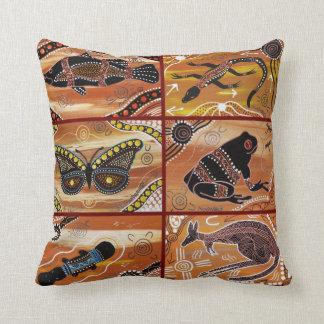 Aboriginal Collage Cushion/Pillow Throw Pillow