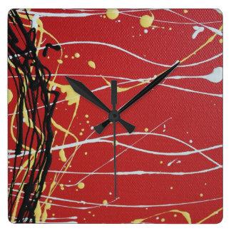 Aboriginal Colours Square Wall Clock