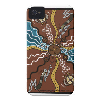 Aboriginal Dot Art Iphone Cases iPhone 4 Cases