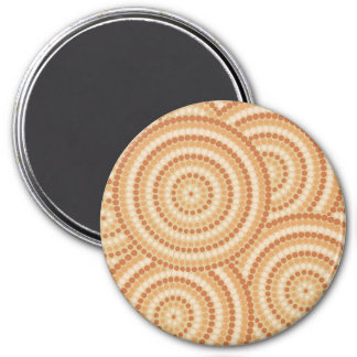 Aboriginal dot painting 3 inch round magnet