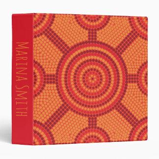 Aboriginal dot painting 3 ring binder