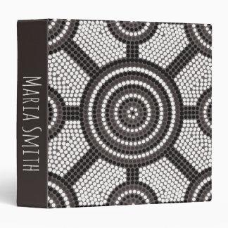 Aboriginal dot painting binder