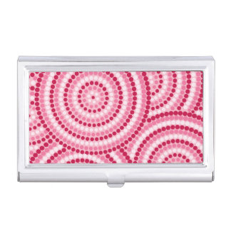 Aboriginal dot painting business card case
