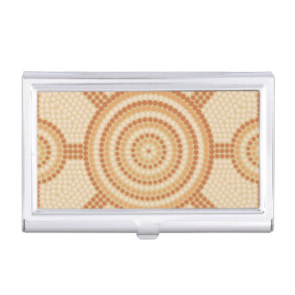 Aboriginal dot painting business card holders