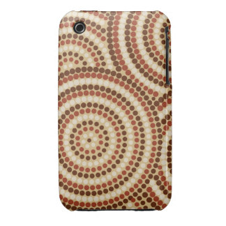Aboriginal dot painting Case-Mate iPhone 3 case