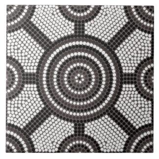 Aboriginal dot painting ceramic tiles