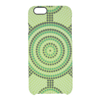 Aboriginal dot painting clear iPhone 6/6S case