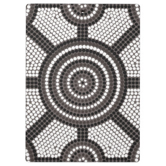 Aboriginal dot painting clipboard