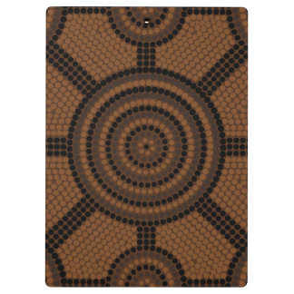 Aboriginal dot painting clipboards