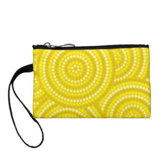 Aboriginal dot painting coin purse