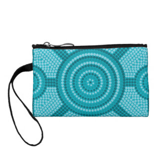 Aboriginal dot painting coin purses
