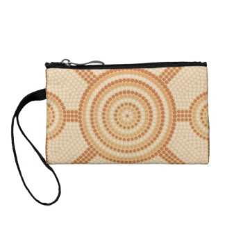 Aboriginal dot painting coin wallet