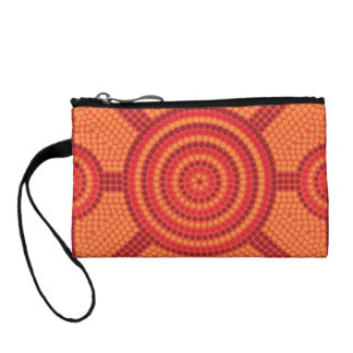Aboriginal dot painting coin wallets