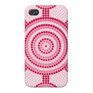 Aboriginal dot painting covers for iPhone 4