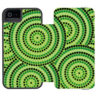 Aboriginal dot painting incipio watson™ iPhone 5 wallet case