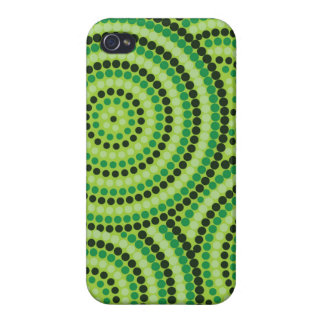 Aboriginal dot painting iPhone 4 case