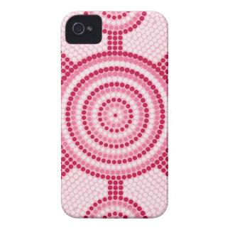 Aboriginal dot painting iPhone 4 Case-Mate cases