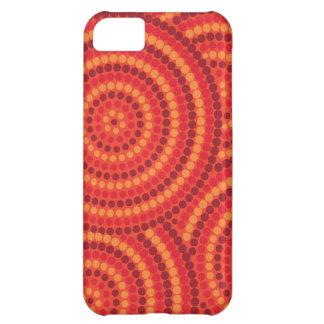 Aboriginal dot painting iPhone 5C covers