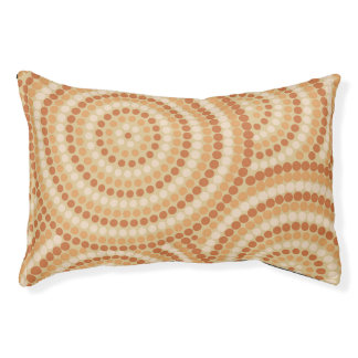 Aboriginal dot painting small dog bed