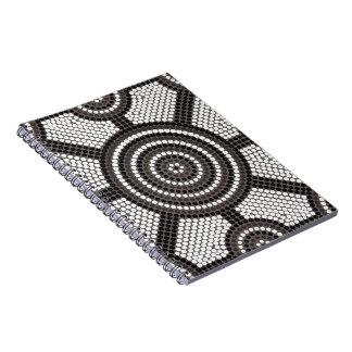 Aboriginal dot painting spiral note book