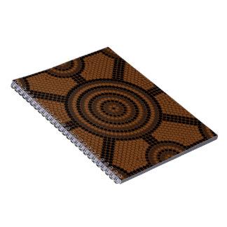 Aboriginal dot painting spiral notebook