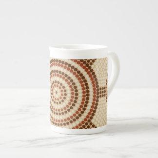Aboriginal dot painting tea cup