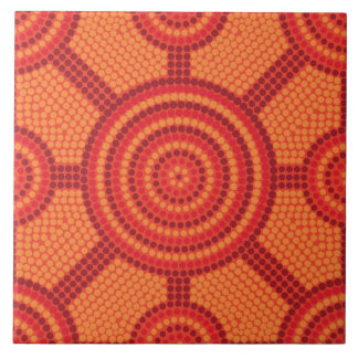 Aboriginal dot painting tile