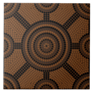 Aboriginal dot painting tiles