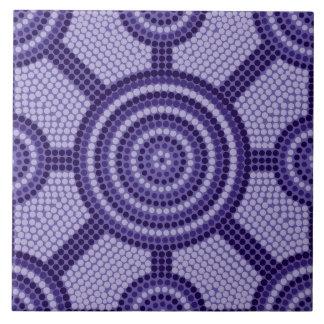 Aboriginal dot painting tiles