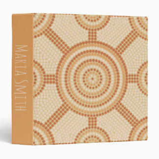 Aboriginal dot painting vinyl binder