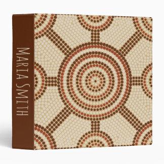 Aboriginal dot painting vinyl binders