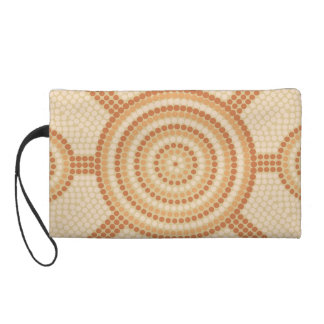 Aboriginal dot painting wristlet