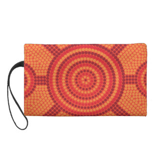 Aboriginal dot painting wristlet clutches