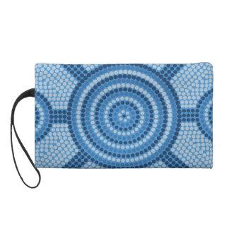 Aboriginal dot painting wristlet purse