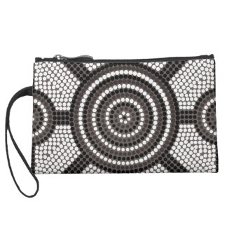 Aboriginal dot painting wristlet purses
