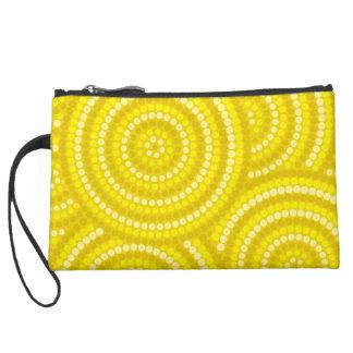 Aboriginal dot painting wristlet purses
