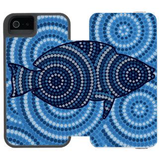 Aboriginal fish dot painting incipio watson™ iPhone 5 wallet case