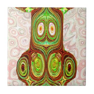 Aboriginal Indian India Ethnic Craft Cartoon Tile
