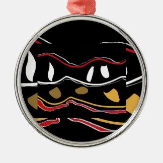 Aboriginal Inspired >Ornament Silver-Colored Round Ornament