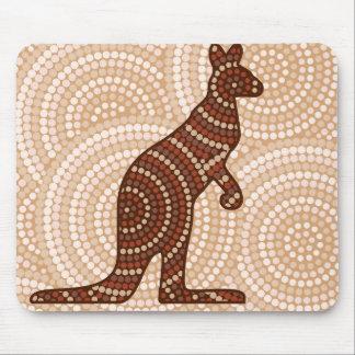 Aboriginal kangaroo dot painting mouse pad