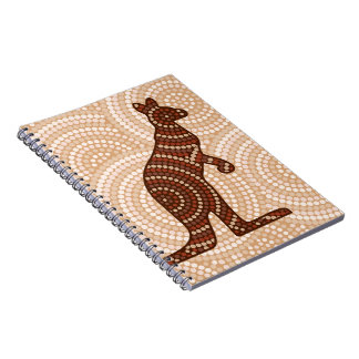 Aboriginal kangaroo dot painting spiral note books