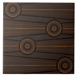 Aboriginal line and circle painting ceramic tile