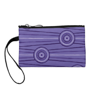 Aboriginal line and circle painting change purse